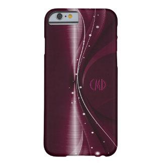 Onda dinámica retra metálica profunda de Borgoña Funda De iPhone 6 Barely There