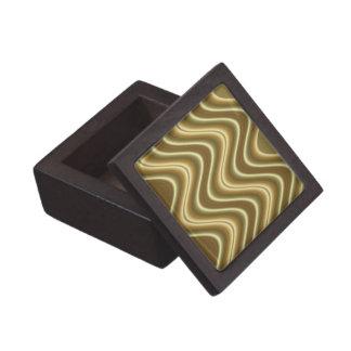 onda elegante del oro caja de regalo de calidad