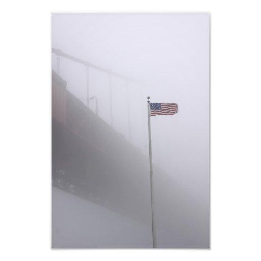Onda en la niebla impresion fotografica