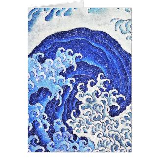 Onda femenina por Hokusai Tarjeta Pequeña