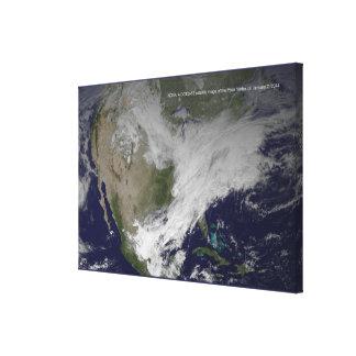 Onda fría norteamericana del vórtice 2014 polares impresión en lienzo