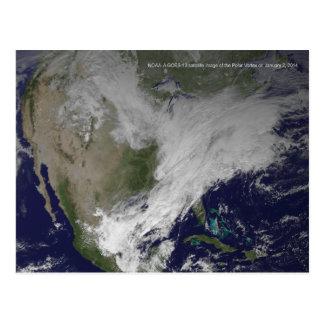 Onda fría norteamericana del vórtice 2014 polares postales