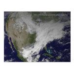 Onda fría norteamericana del vórtice 2014 polares tarjeta postal