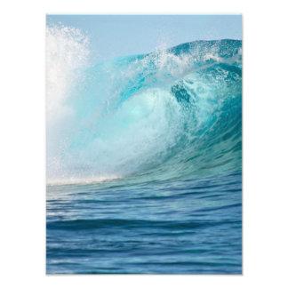 Onda grande del Océano Pacífico que rompe la foto Cojinete
