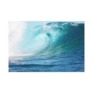 Onda grande del Océano Pacífico que rompe la Impresión En Lienzo