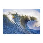 Onda grande en los rebeldes que practican surf la  lona estirada galerias