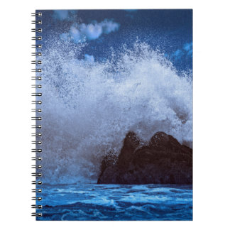 Onda grande hermosa, en el cuaderno de la foto