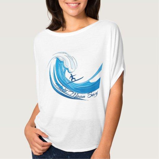 Onda grande que practica surf Half Moon Bay Camisas