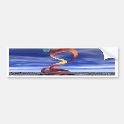 : Onda ligera 5: Productos del diseñador por Crick Pegatina De Parachoque