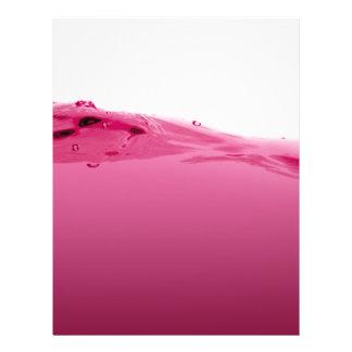 "Onda líquida rosada folleto 8.5"" x 11"""