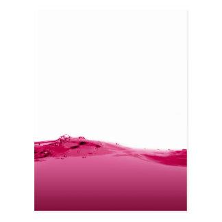 Onda líquida rosada postales