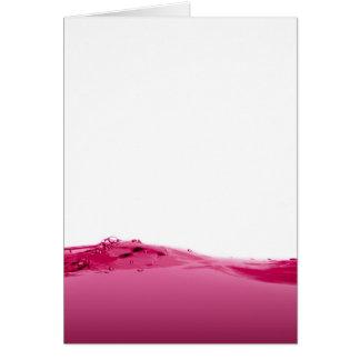 Onda líquida rosada tarjeta de felicitación