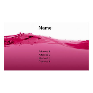 Onda líquida rosada tarjetas de visita