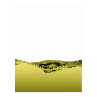 Onda líquida verde postal