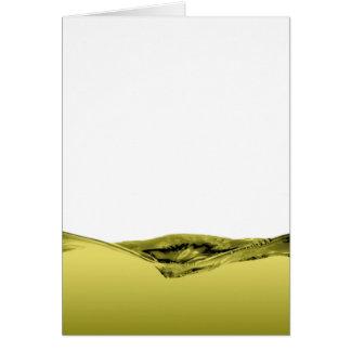 Onda líquida verde tarjeta de felicitación