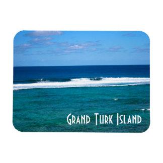 Onda magnífica de la isla del turco imanes flexibles