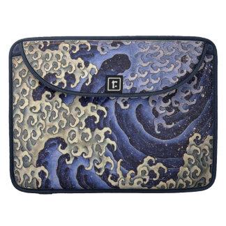 Onda masculina de Katsushika Hokusai Fundas Macbook Pro