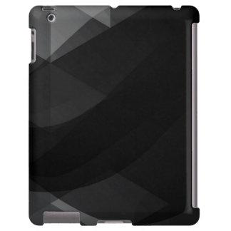 Onda negra Abstracto-Todas opciones del Funda Para iPad