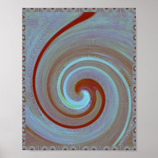 Onda ORNAMENTAL: Infinito de la galaxia del cosmos Impresiones
