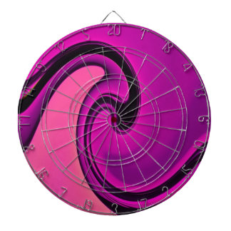 Onda púrpura abstracta tablero dardos