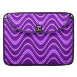 Onda púrpura brillante fundas macbook pro