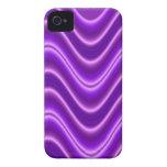 Onda púrpura brillante iPhone 4 cárcasa