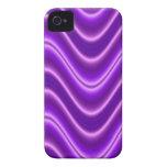 Onda púrpura brillante iPhone 4 protectores