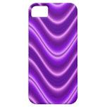 Onda púrpura brillante iPhone 5 coberturas