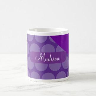 Onda púrpura conocida de encargo personalizada de taza de café