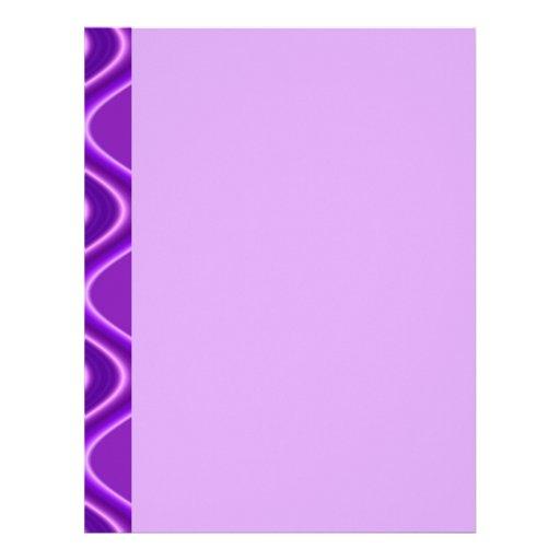 onda púrpura membretes personalizados