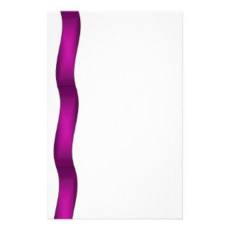 Onda púrpura papelería de diseño