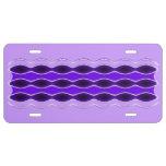 Onda púrpura placa de matrícula