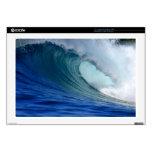 Onda que practica surf azul portátil calcomanías