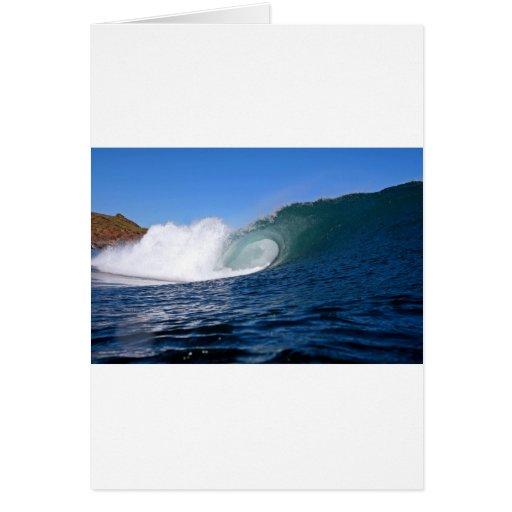 Onda que practica surf Chile del océano azul Tarjeta De Felicitación