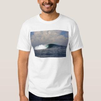 Onda que practica surf del océano tropical azul remeras