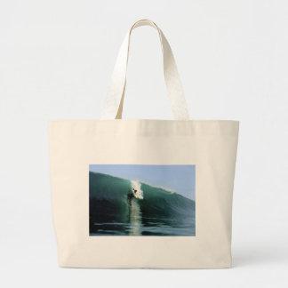 Onda que practica surf extrema verde grande que pr bolsas de mano