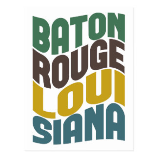 Onda retra de Baton Rouge Luisiana Postales