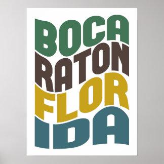 Onda retra de Boca Raton la Florida Póster