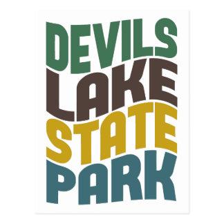 Onda retra del parque de estado del lago devils tarjetas postales