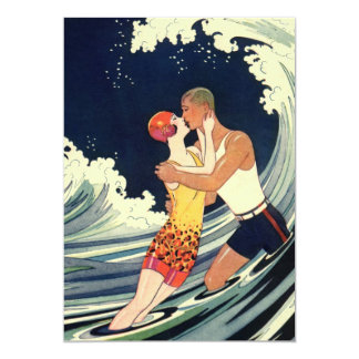 Onda romántica de la playa del beso del amor del comunicados personales