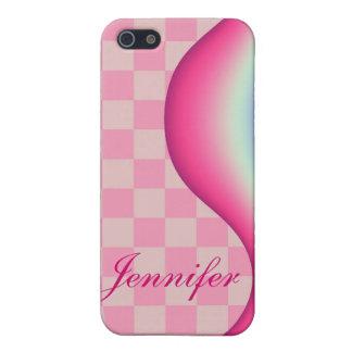 Onda rosada tejas y caja conocida de la mota del iPhone 5 cárcasas