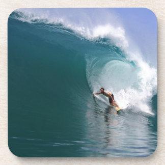 Onda tropical azul grande del filón que practica s posavasos