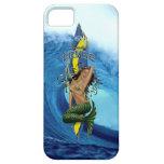 Onda tropical de la tabla hawaiana de la sirena de iPhone 5 protectores