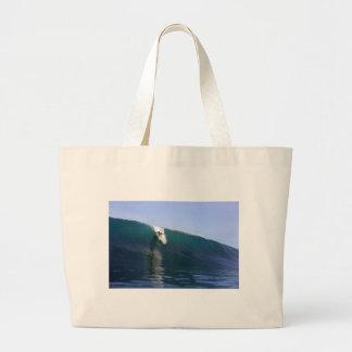 Onda tropical enorme de la isla que practica surf bolsas