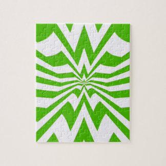 onda verde del zigzag loco rompecabeza