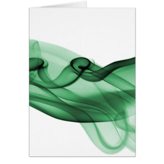 Onda verde tarjeta de felicitación