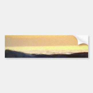 Onda y horizonte de la puesta del sol pegatina para auto