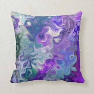 Ondas 33 de la púrpura cojín decorativo