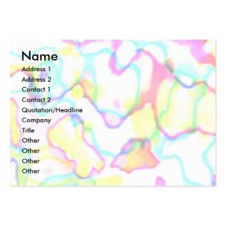 Ondas 3 del arco iris tarjetas de visita grandes