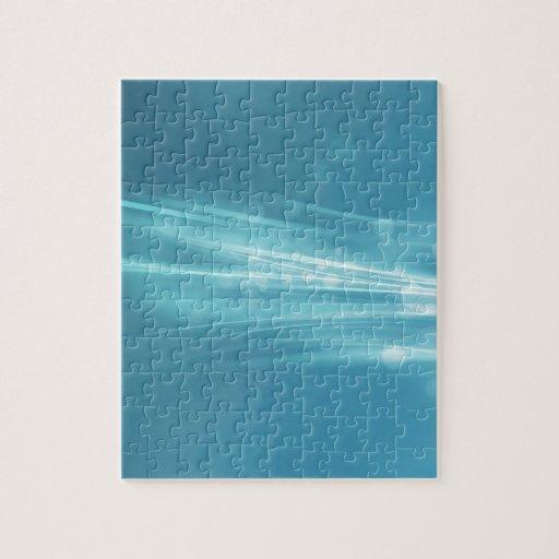 Ondas abstractas de la plata de los cristales rompecabeza con fotos